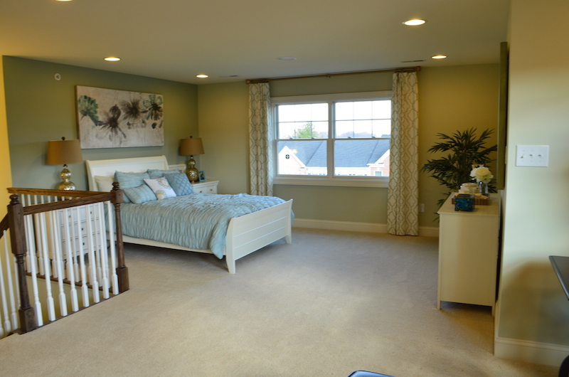 FInished Bedroom in Chesterbrook